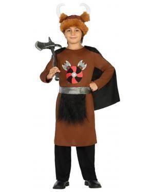 Fato Viking Marron Menino de 5-6 anos Disfarces A Casa do Carnaval.pt