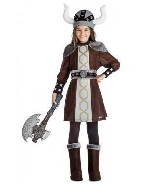 Fato Viking Menina 3-4 Anos para Carnaval