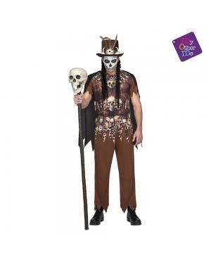 Fato Voodoo Cannibal Homem M/L para Carnaval