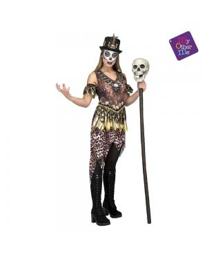 Fato Voodoo Cannibal Mulher M/L para Carnaval