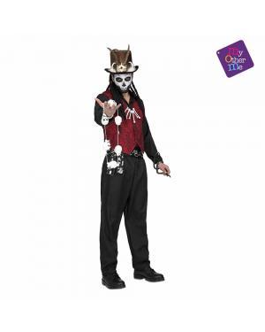 Fato Voodoo Master Homem M/L para Carnaval