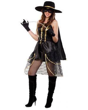 Fato Zorro Bandida Adulto, Loja de Fatos Carnaval, Disfarces, Artigos para Festas, Acessórios de Carnaval, Mascaras, Perucas, Chapeus 665 acasadocarnaval.pt