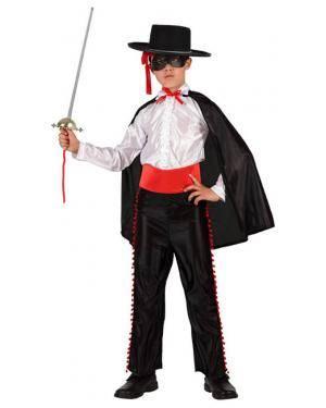 Fato Zorro com Camisa Branca Menino Disfarces A Casa do Carnaval.pt