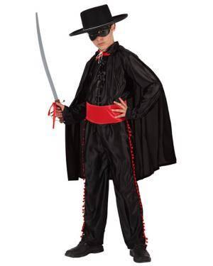 Fato Zorro Camisa Preta Menino Disfarces A Casa do Carnaval.pt