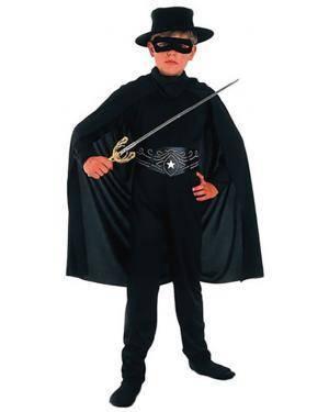 Fato Zorro Criança Disfarces A Casa do Carnaval.pt