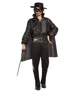 Fato Zorro Homem T. M/L Disfarces A Casa do Carnaval.pt