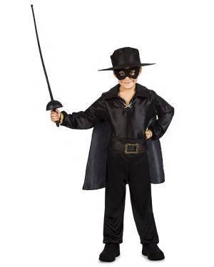 Fato Zorro Menino 3-4 Anos Disfarces A Casa do Carnaval.pt