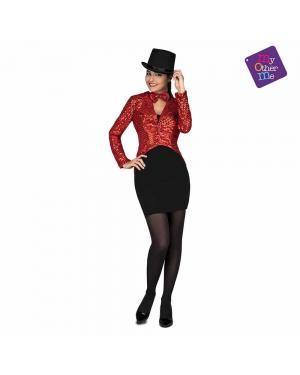 Fraque e Papillon Show Woman Vermelho M/L para Carnaval