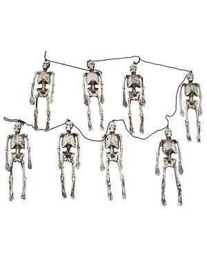 Grinalda Esqueletos 8 Partes 143Cm  Disfarces A Casa do Carnaval.pt