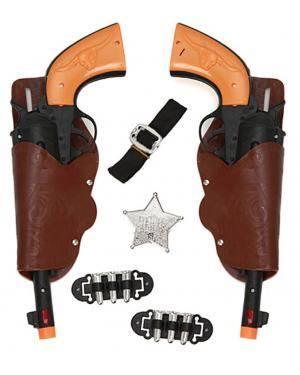 Kit 2 Pistolas Cowboy Adulto 30X12cm , Loja de Fatos Carnaval, Disfarces, Artigos para Festas, Acessórios de Carnaval, Mascaras, Perucas 398 acasadocarnaval.pt
