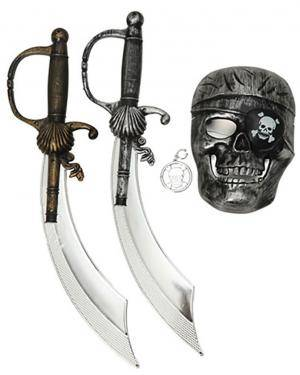 Kit de Pirata (3 Unidades), Loja de Fatos Carnaval, Disfarces, Artigos para Festas, Acessórios de Carnaval, Mascaras, Perucas, Chapeus 185 acasadocarnaval.pt