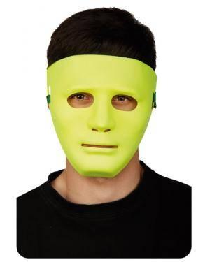 Máscara Fluorescente Amarela, Loja de Fatos Carnaval, Disfarces, Artigos para Festas, Acessórios de Carnaval, Mascaras, Perucas 108 acasadocarnaval.pt