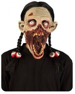 Máscara Menina Zombie, Loja de Fatos Carnaval, Disfarces, Artigos para Festas, Acessórios de Carnaval, Mascaras, Perucas, Chapeus 395 acasadocarnaval.pt
