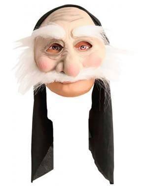 Máscara Velho de Cabelos Brancos, Loja de Fatos Carnaval, Disfarces, Artigos para Festas, Acessórios de Carnaval, Mascaras, Perucas 694 acasadocarnaval.pt