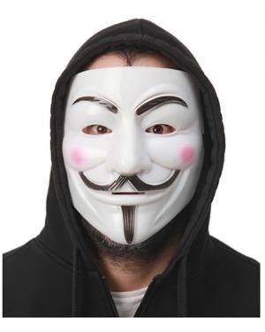 Máscara Vendetta V de Vingança (3 Unidades) Disfarces A Casa do Carnaval.pt