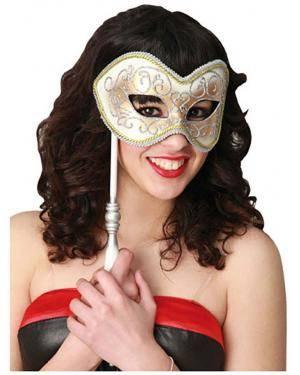 Mascarilha Veneza com Barra Disfarces A Casa do Carnaval.pt