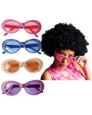 Óculos Anos 60 Brilhantes (2 Unidades) Disfarces A Casa do Carnaval.pt