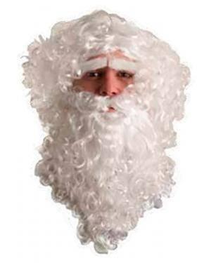 Peruca Barba Bigode e Sobrancelha da Papa Noel Disfarces A Casa do Carnaval.pt