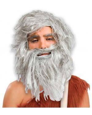 Peruca e Barba Idade da Pedra Disfarces A Casa do Carnaval.pt