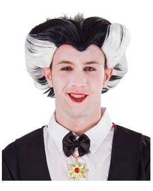 Peruca Drácula, Loja de Fatos Carnaval, Disfarces, Artigos para Festas, Acessórios de Carnaval, Mascaras, Perucas, Chapeus e Fantasias 161 acasadocarnaval.pt