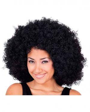 Peruca Mega Afro Preta, Loja de Fatos Carnaval, Disfarces, Artigos para Festas, Acessórios de Carnaval, Mascaras, Perucas, Chapeus 103 acasadocarnaval.pt
