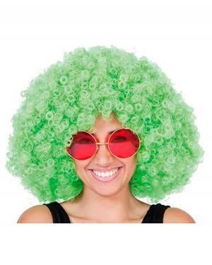 Peruca Mega Afro Verde, Loja de Fatos Carnaval, Disfarces, Artigos para Festas, Acessórios de Carnaval, Mascaras, Perucas, Chapeus 345 acasadocarnaval.pt
