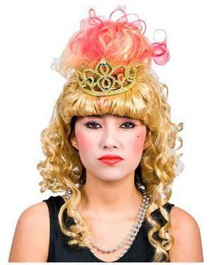 Peruca Princesa com Coroa Disfarces A Casa do Carnaval.pt