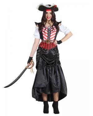 Pirata Saia Longa/Curta para Carnaval