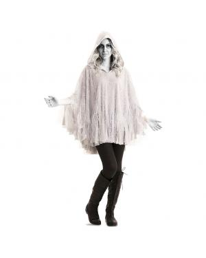 Poncho Fantasma Adulto para Carnaval