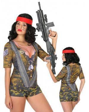 T-shirt Militar Mulher M-L para Carnaval