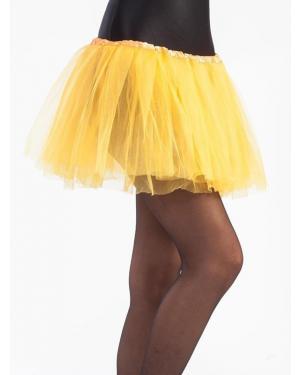 Tutu 30 Cms Amarelo para Carnaval