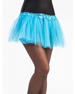 Tutu 30 Cms Azul Claro para Carnaval