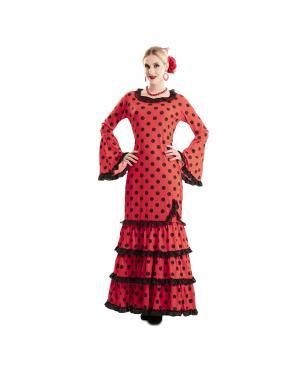 Vestido de Flamenco Vermelho Mulhere para Carnaval