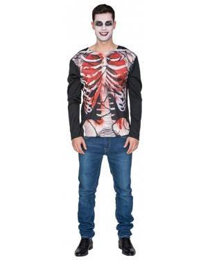 Camisa Esqueleto Zombie Adulto M/L, Loja de Fatos Carnaval, Disfarces, Artigos para Festas, Acessórios de Carnaval, Mascaras, Perucas 386 acasadocarnaval.pt