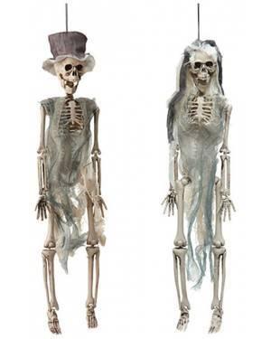 Casal de Namorados Esqueleto 41Cm