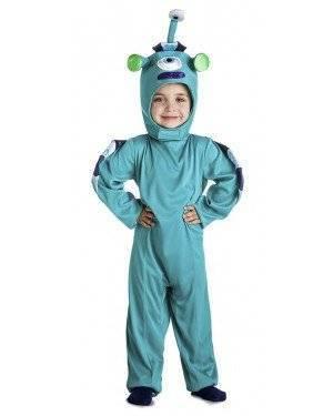 Fato Alien Azul 3-4 Anos para Carnaval