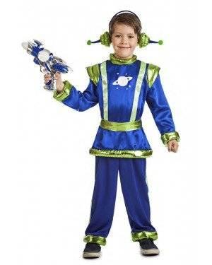 Fato Alien Azul Menino 7-9 Anos para Carnaval