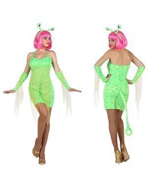 Fato Alien Sexy Verde Mulher