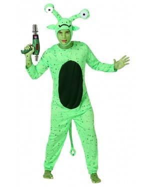 Fato Alien Verde Adulto