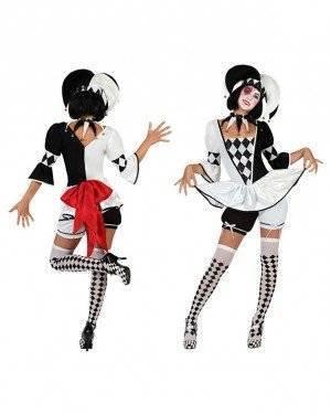 Fato Arlequim Pierrot Sexy
