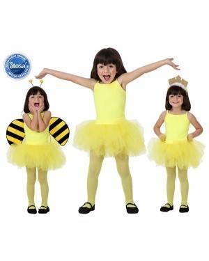 Fato Bailarina Dançarina Amarelo Menina