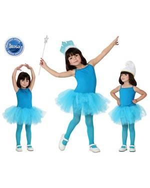 Fato Bailarina Dançarina Azul Menina