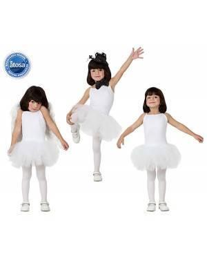 Fato Bailarina Dançarina Branco Menina