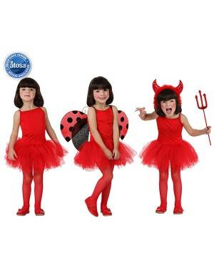 Fato Bailarina Dançarina Vermelho Menina