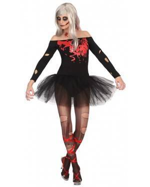 Fato Bailarina Zombie Mulher Adulto XS/S, Loja Fatos Carnaval, Disfarces, Artigos para Festas, Acessórios de Carnaval, Mascaras, Perucas 963 acasadocarnaval.pt