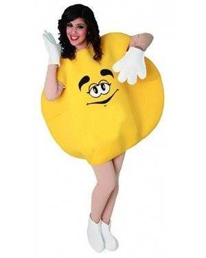 Fato Bombom M&M Amarelo Adulto