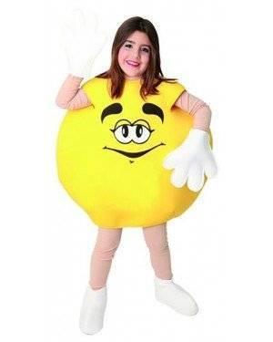 Fato Bombom M&M Amarelo Crianças