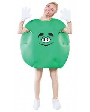 Fato Bombom M&M Verde Adulto