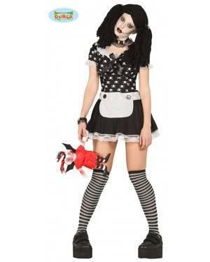 Fato Boneca Diabólica Fantasma para Mulher para Carnaval o Halloween 05476 | A Casa do Carnaval.pt