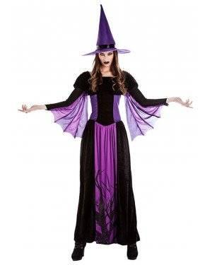 Fato Bruxa Aranha para Carnaval ou Halloween 4333 - A Casa do Carnaval.pt